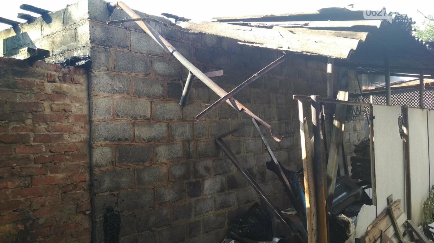 У Костянтинівці від пожежі вщент згоріла вбиральня, фото-1