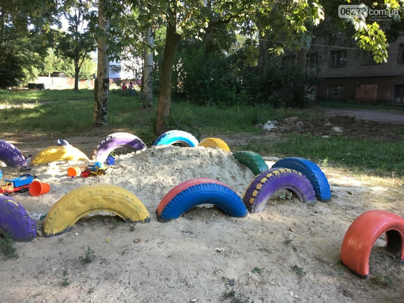 На пр. Ломоносова появилась детская площадка, созданная жителями Константиновки, фото-1