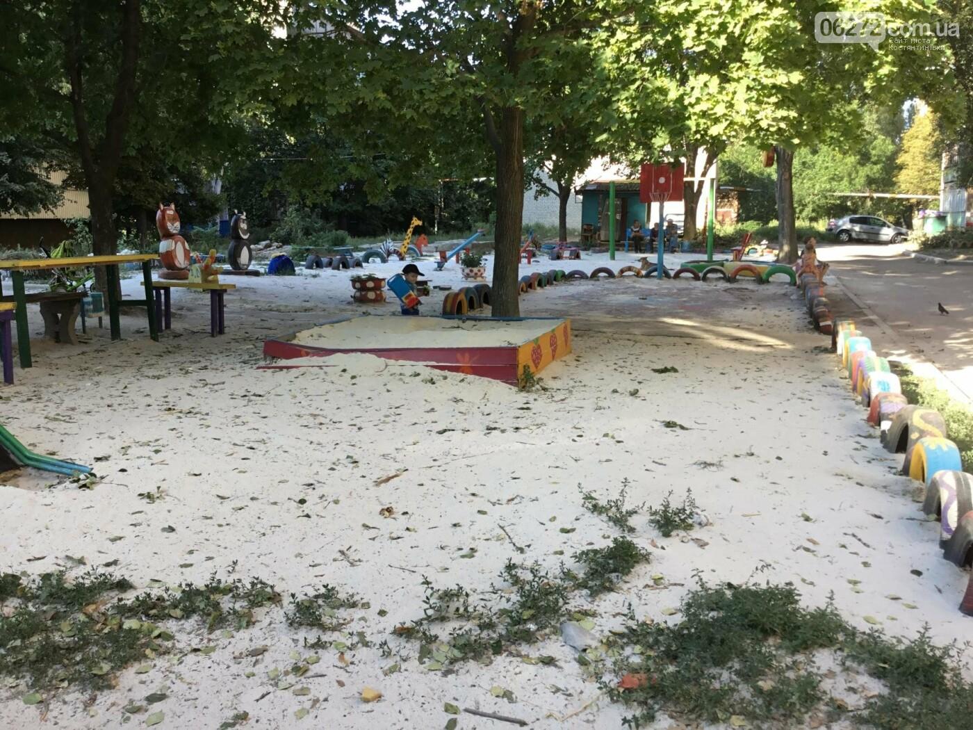 В Константиновке по ул. Безнощенко молодежь сделала спортивную площадку для детей, фото-16