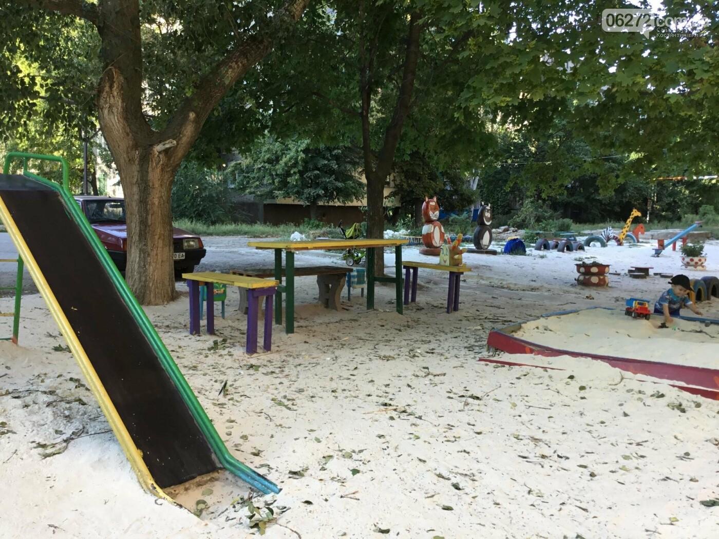 В Константиновке по ул. Безнощенко молодежь сделала спортивную площадку для детей, фото-11