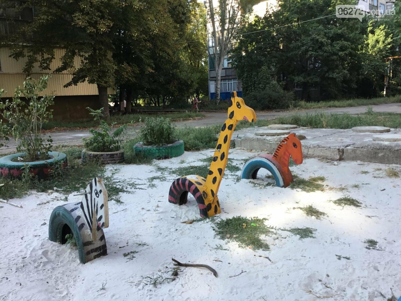 В Константиновке по ул. Безнощенко молодежь сделала спортивную площадку для детей, фото-13