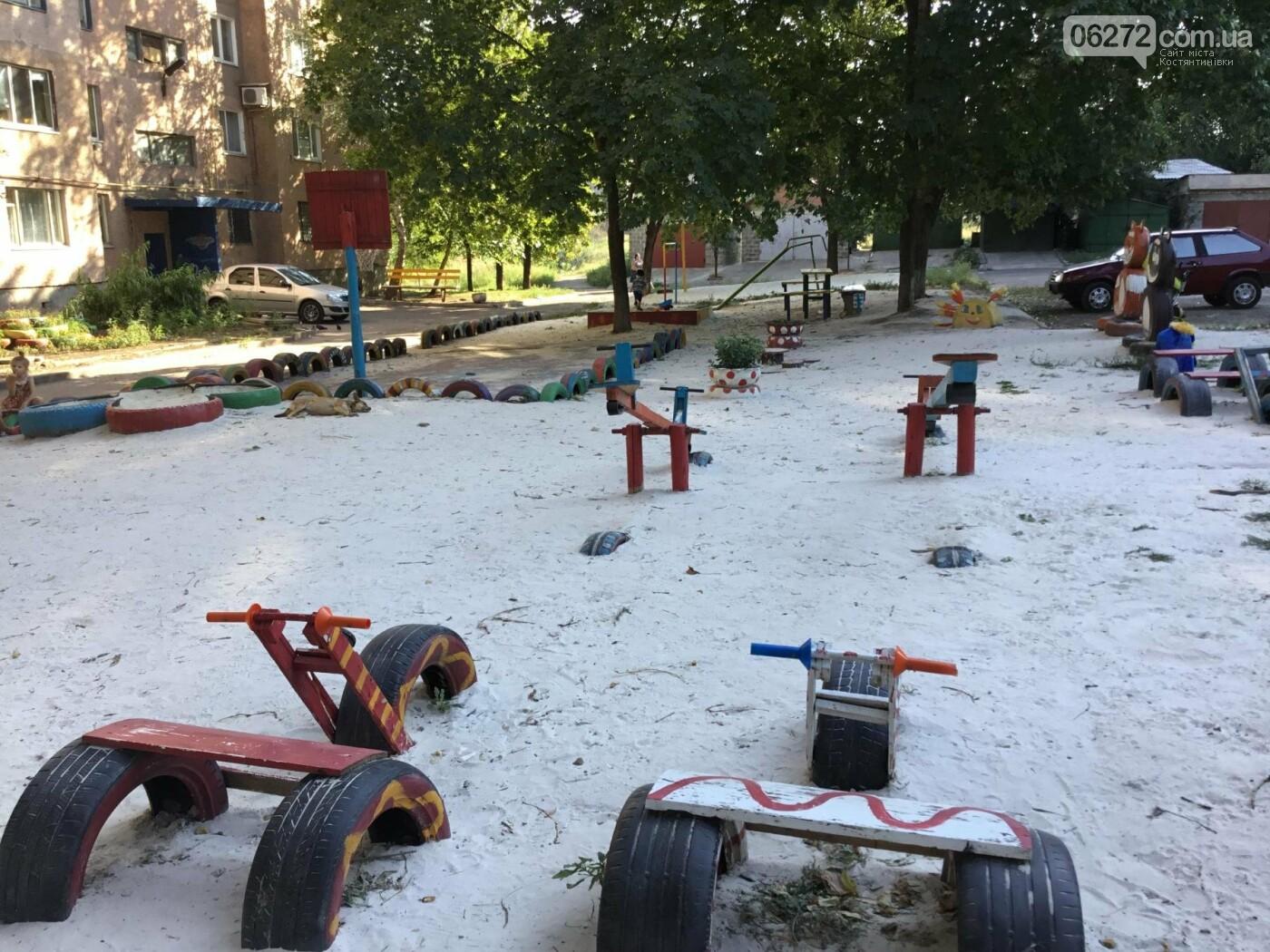 В Константиновке по ул. Безнощенко молодежь сделала спортивную площадку для детей, фото-3