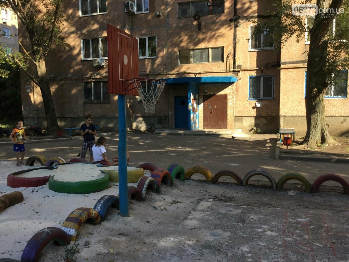 В Константиновке по ул. Безнощенко молодежь сделала спортивную площадку для детей, фото-1