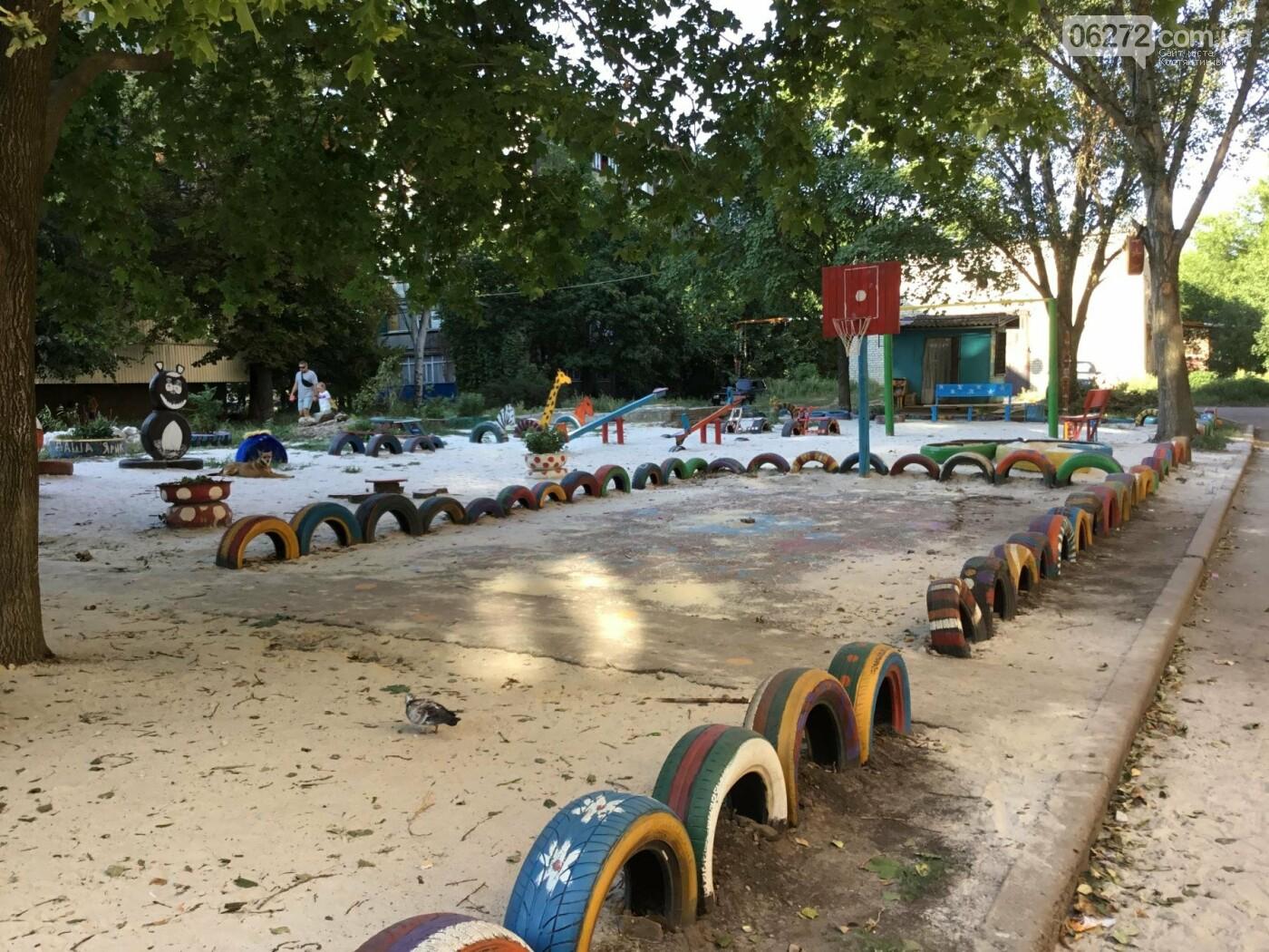 В Константиновке по ул. Безнощенко молодежь сделала спортивную площадку для детей, фото-8