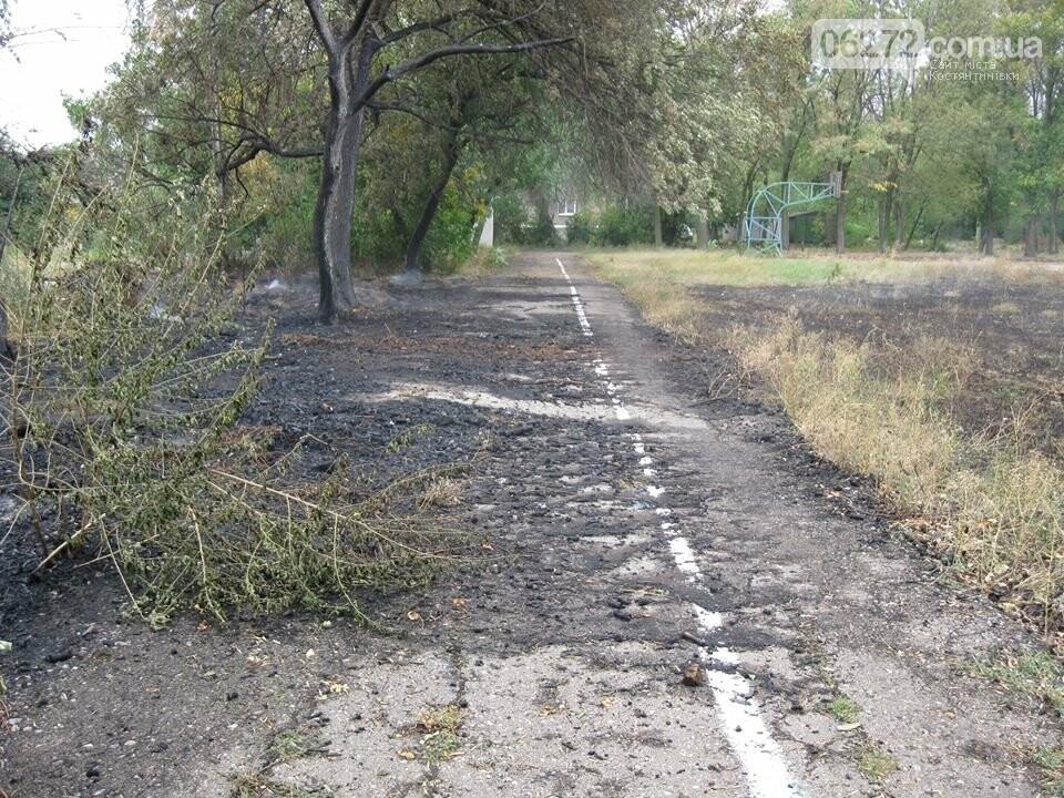 Біля Костянтинівського медичного коледжу вигоріла велика площа трави, фото-4