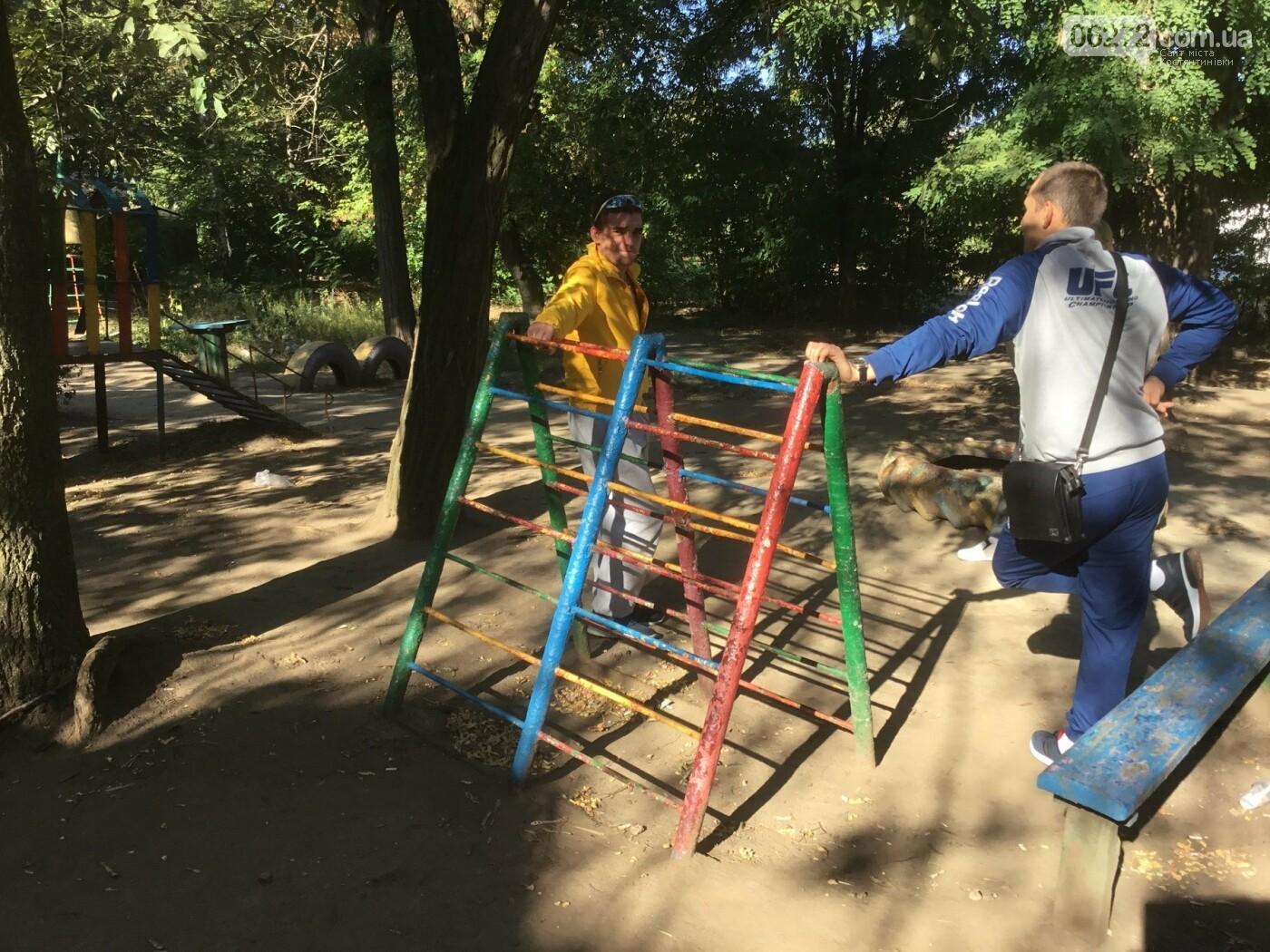 Костянтинівці облаштували майданчик на території дитячого садка, фото-1