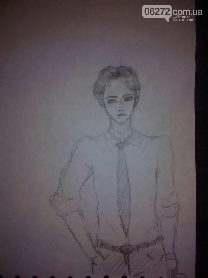 14-річна школярка із Костянтинівки малює японські комікси, фото-1
