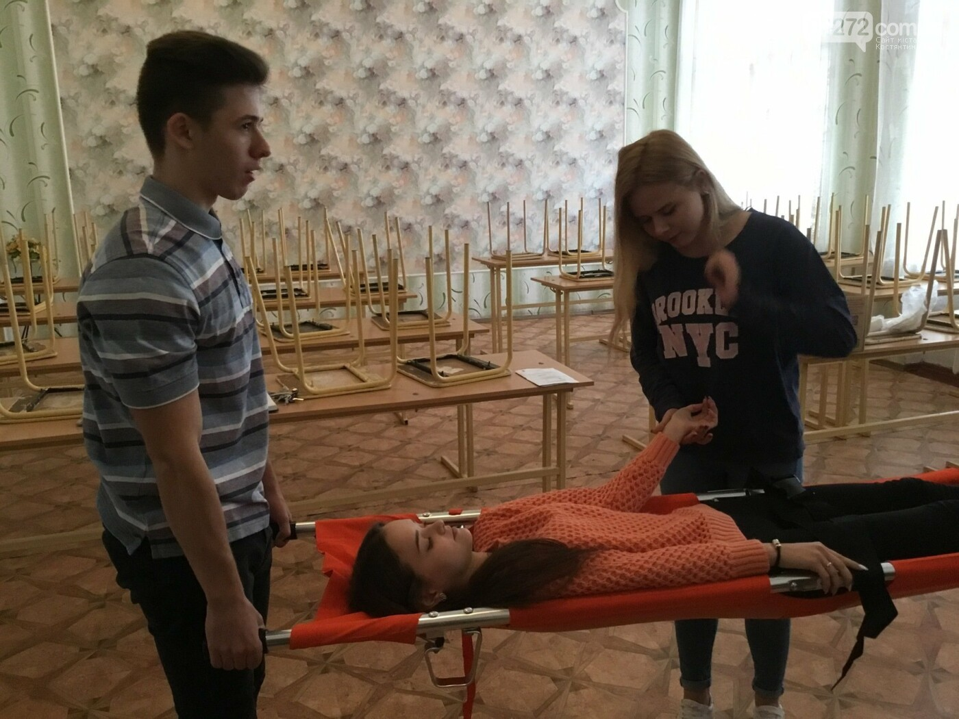 В Костянтинівській школі №16 з'явився манекен-тренажер для штучного дихання «Максим», фото-8