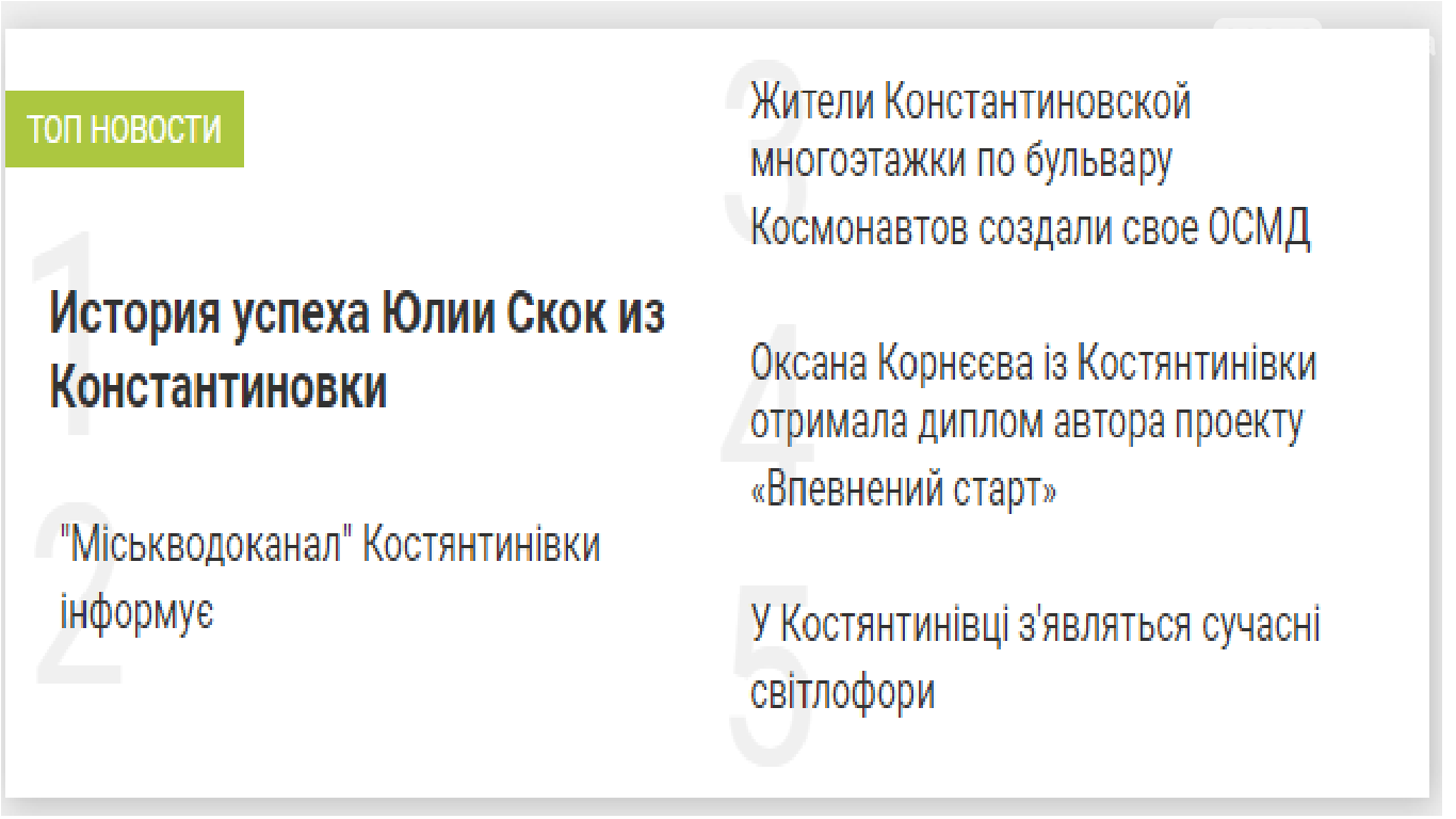 Популярні новини у місті Костянтинівка, фото-1