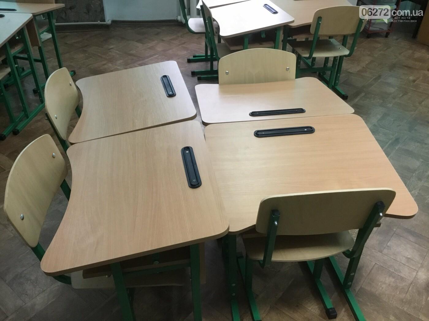 Костянтинівські школи отримали одномісні парти для першокласників, фото-11