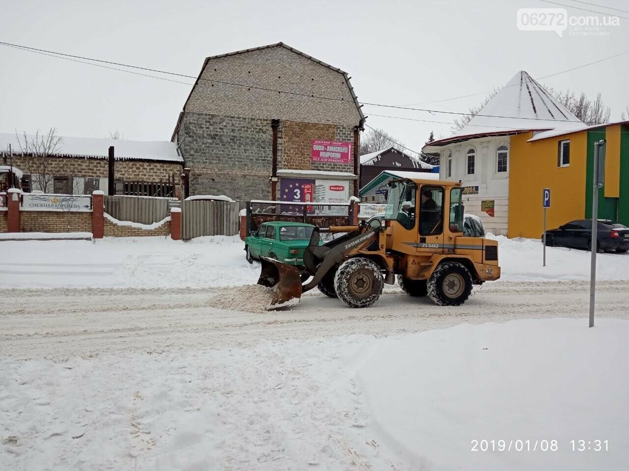 У Костянтинівці чистять дороги від снігу (фотофакт), фото-3
