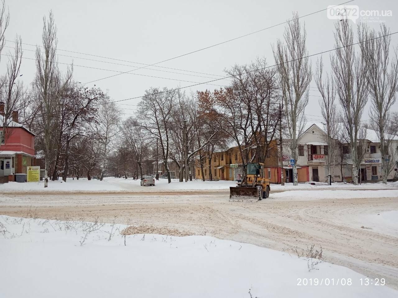 У Костянтинівці чистять дороги від снігу (фотофакт), фото-4