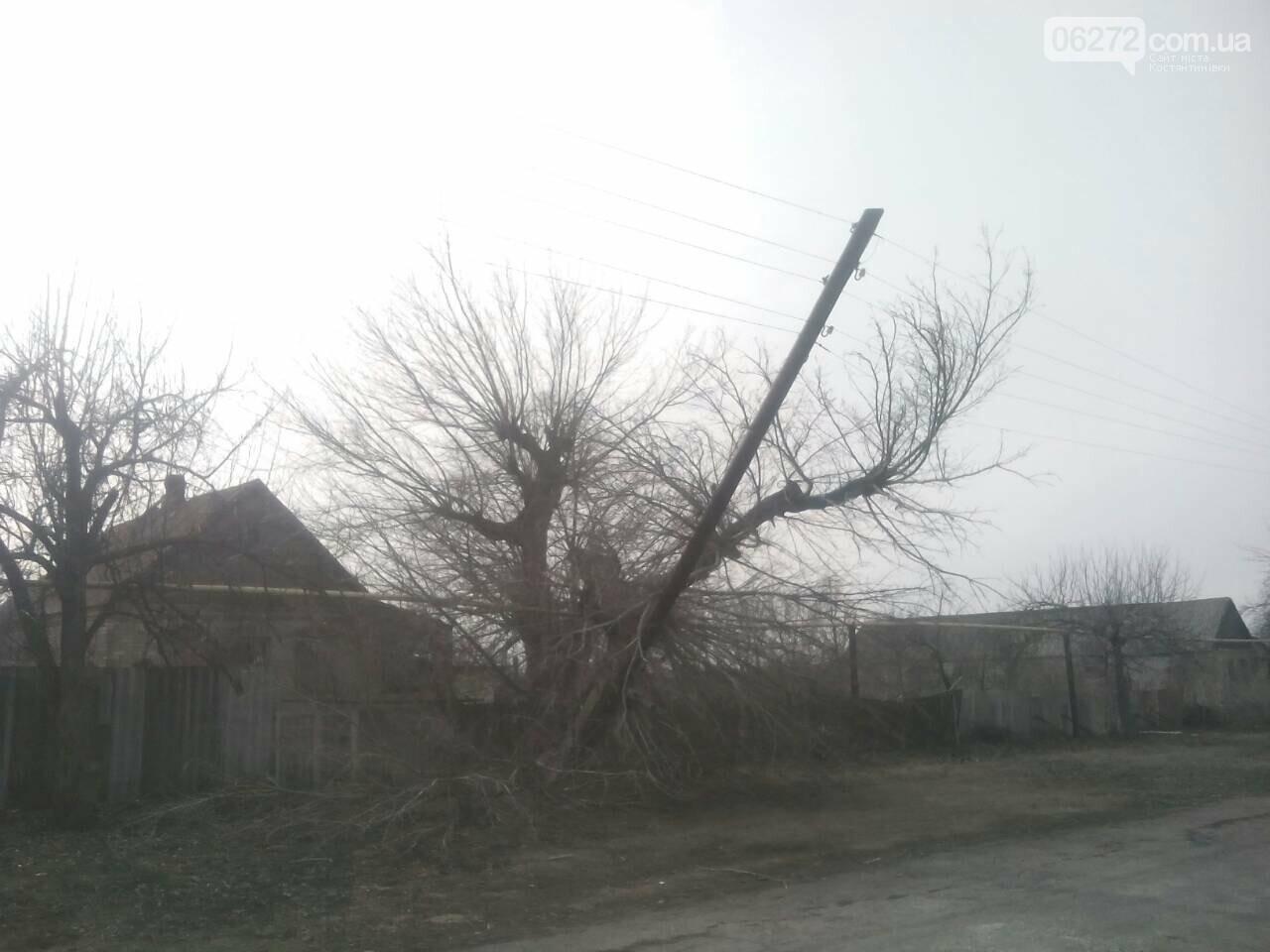 В Константиновском районе дерево упало на столб линии электропередач, фото-3