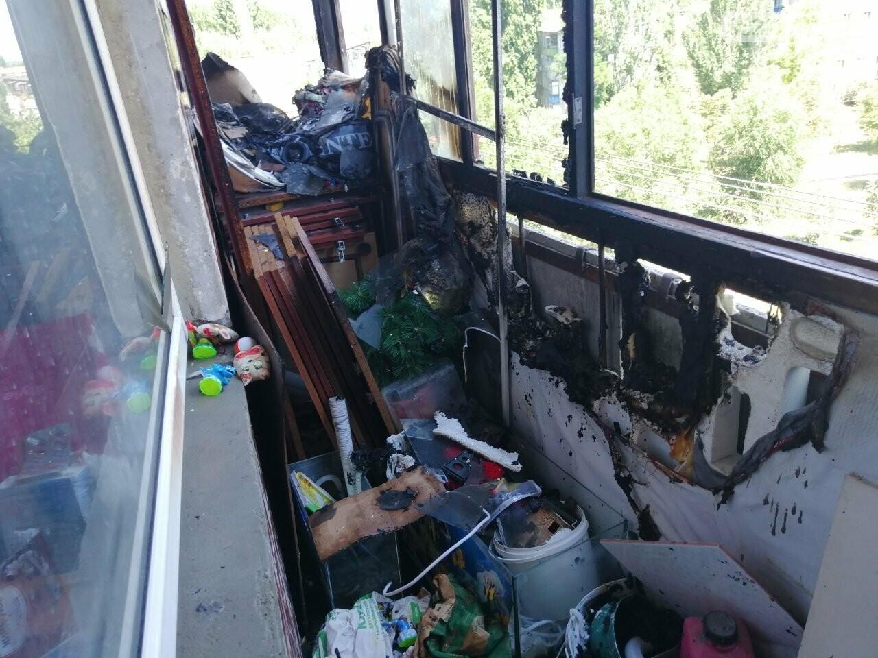 У Костянтинівці горіли балкони на Громова, фото-2