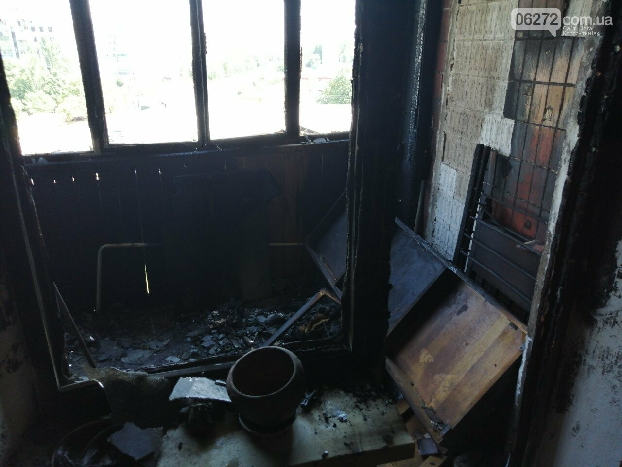 У Костянтинівці горіли балкони на Громова, фото-5