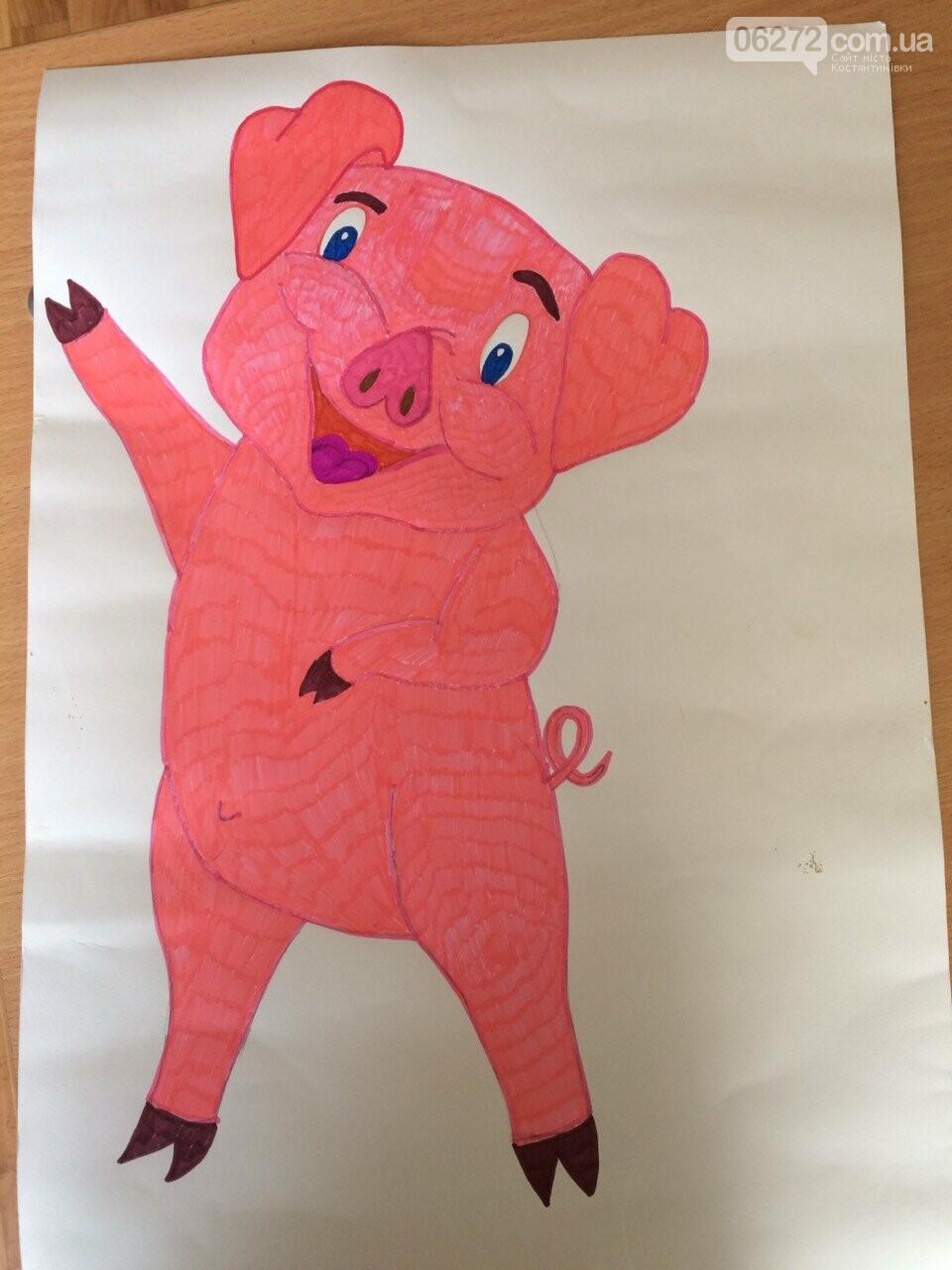 «Намалюй свиню – відволічись від гаджета!» - креативність учительки із Костянтинівки, фото-13