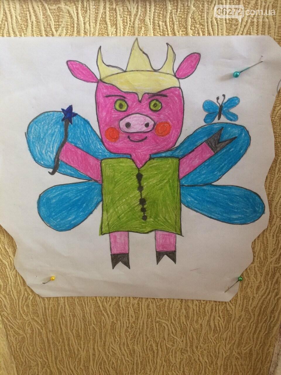 «Намалюй свиню – відволічись від гаджета!» - креативність учительки із Костянтинівки, фото-19