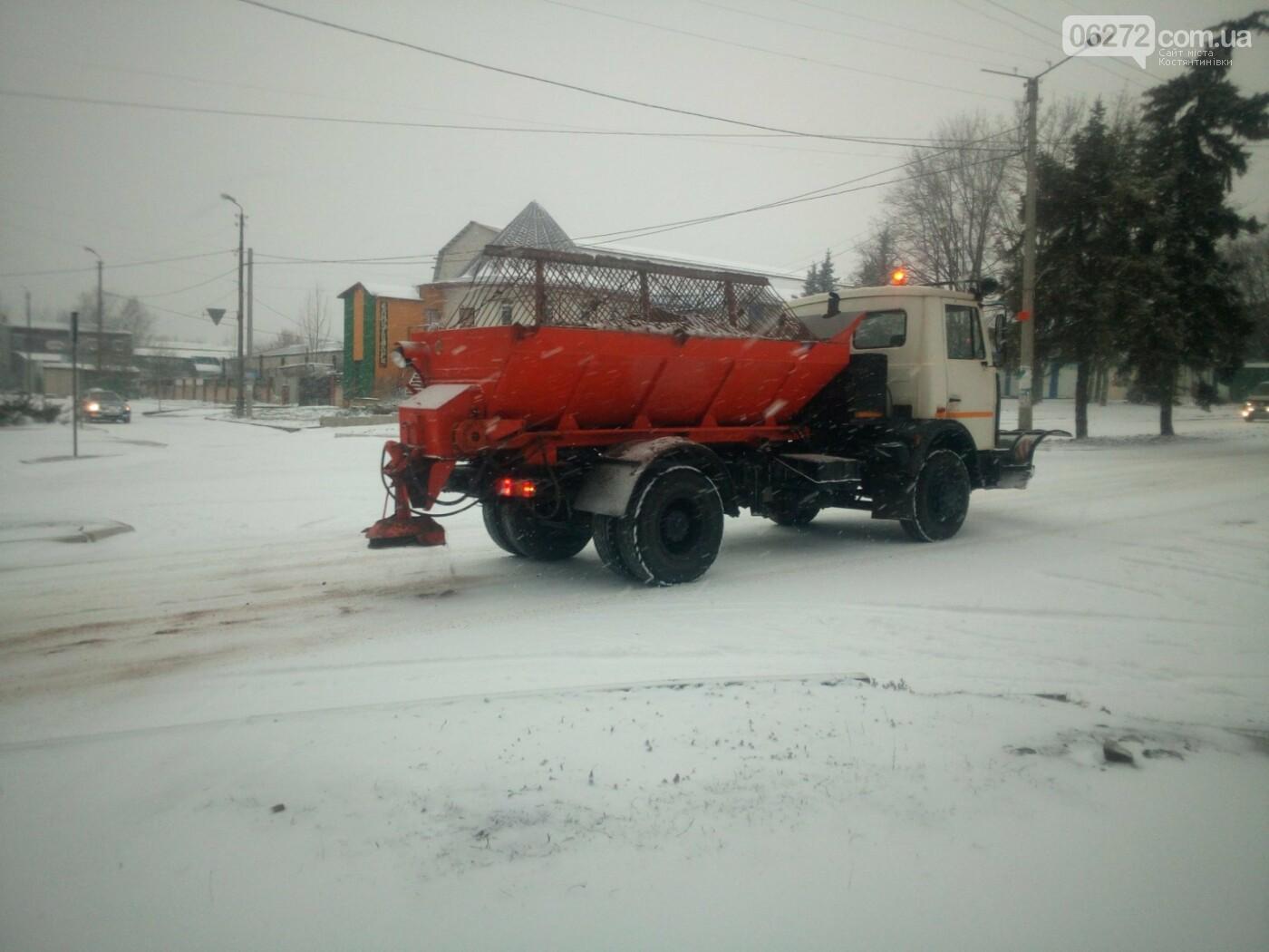 Ранок в Костянтинівці почався зі снігу. Чи готові комунальники до негоди (фотофакт), фото-2