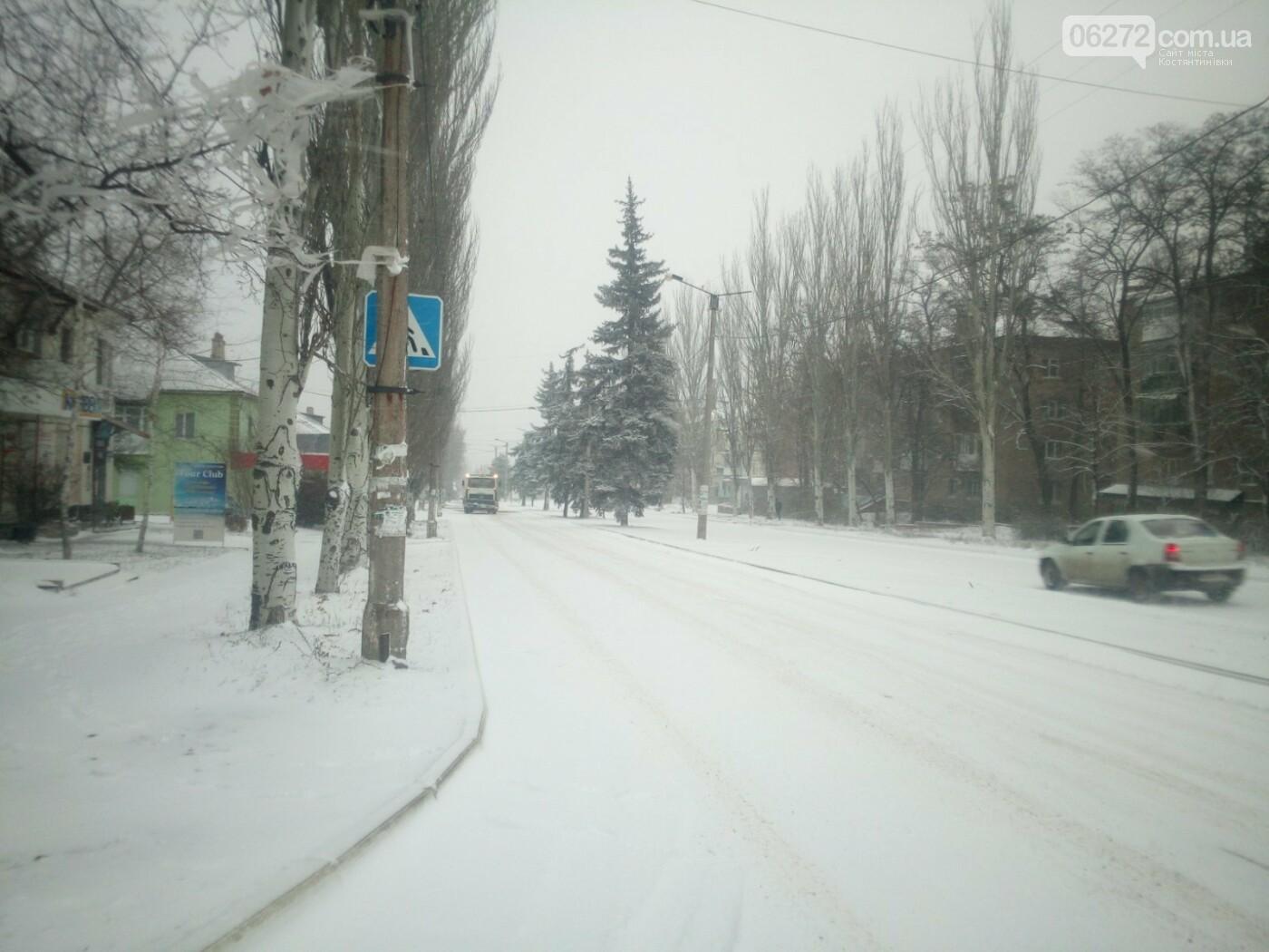 Ранок в Костянтинівці почався зі снігу. Чи готові комунальники до негоди (фотофакт), фото-1