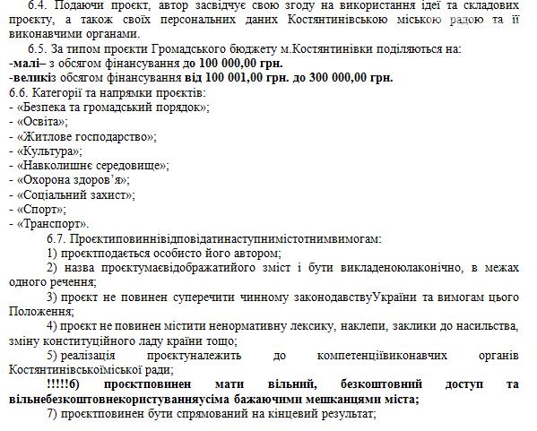 Як подати проєкт на Громадський бюджет Костянтинівки. Покрокова інструкція, фото-6