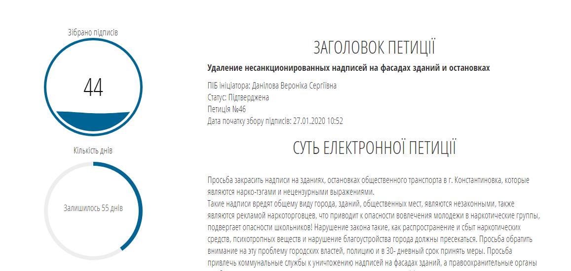 У Костянтинівці триває збір підписів на підтримку петицій , фото-2