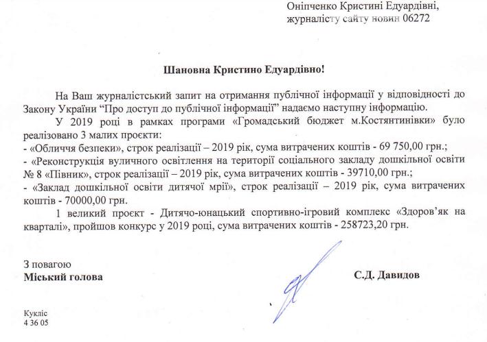 У Костянтинівці на проєкти місцевих мешканців витратили більше 400 тисяч гривень, фото-1