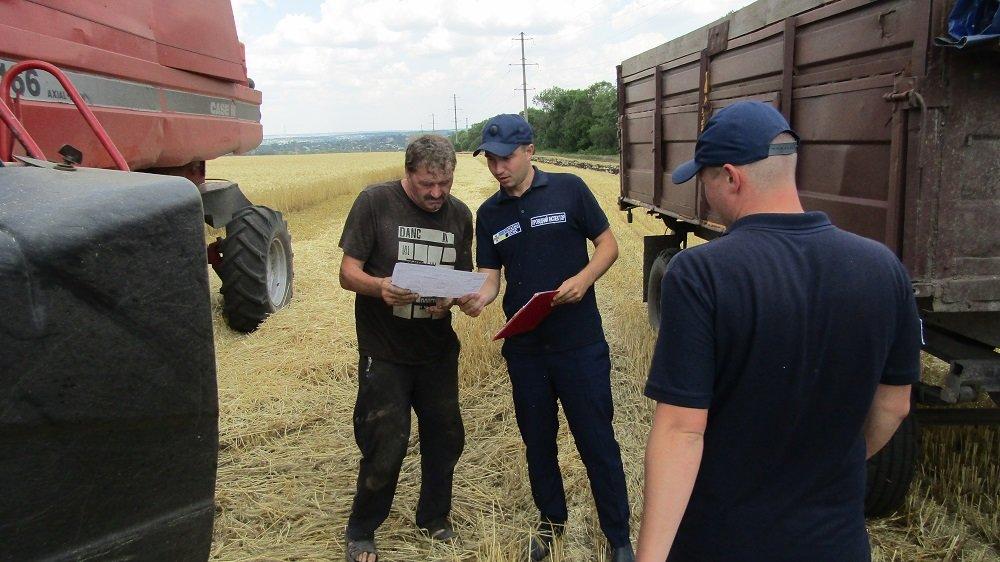 Константиновские спасатели провели информационные беседы с земледельцами , фото-3