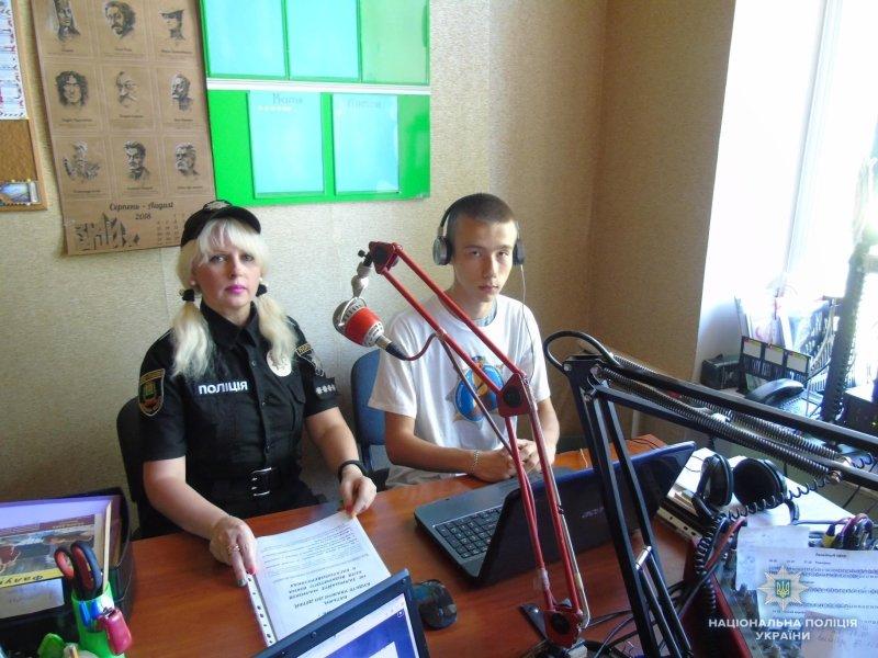 Константиновская команда лиговцев в тандеме с полицией выступили в студии местного радио о безопасности детей, фото-1