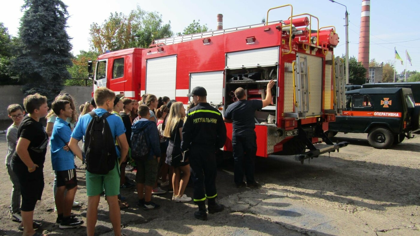 Восьмикласники Іллінівської школи відвідали пожежну частину Костянтинівки, фото-5