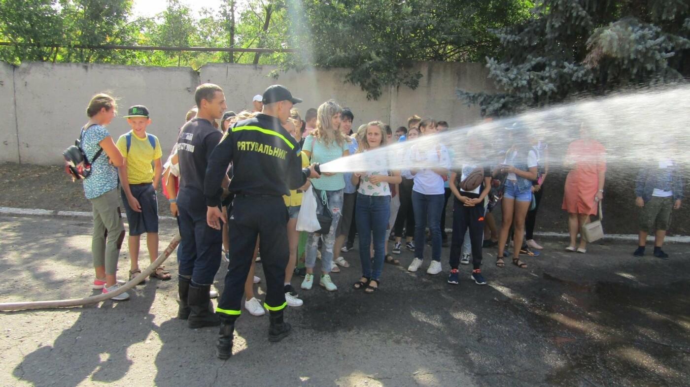 Восьмикласники Іллінівської школи відвідали пожежну частину Костянтинівки, фото-3