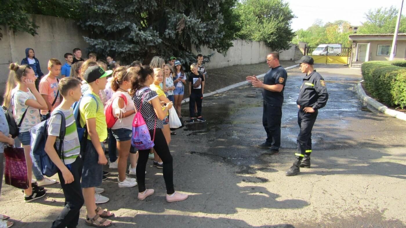Восьмикласники Іллінівської школи відвідали пожежну частину Костянтинівки, фото-4