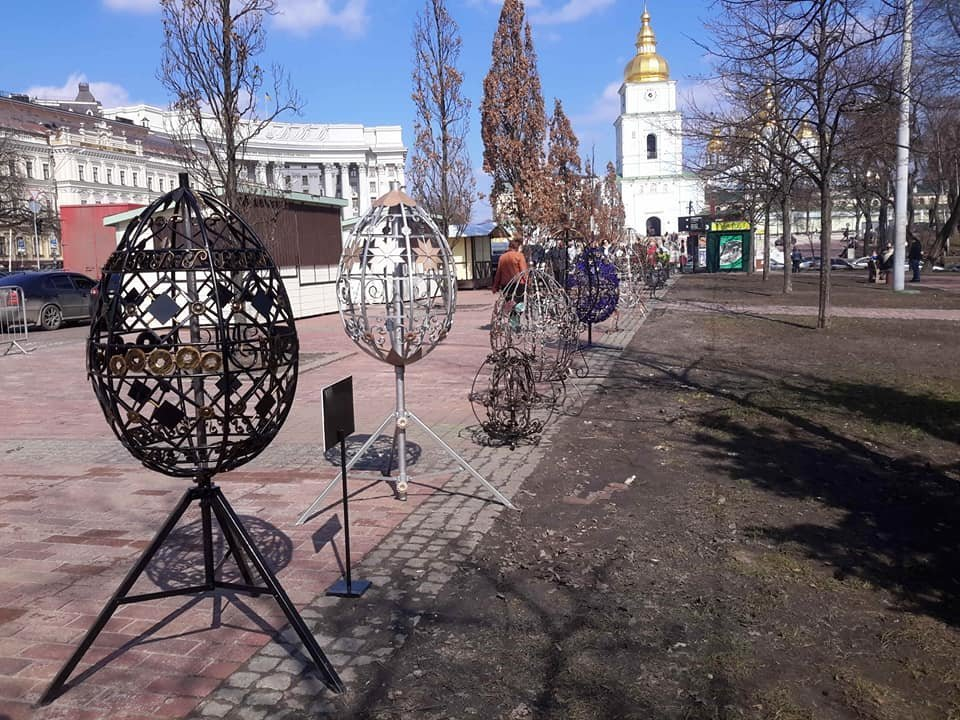 Студенти Донецької області створили метрові металеві писанки, фото-10