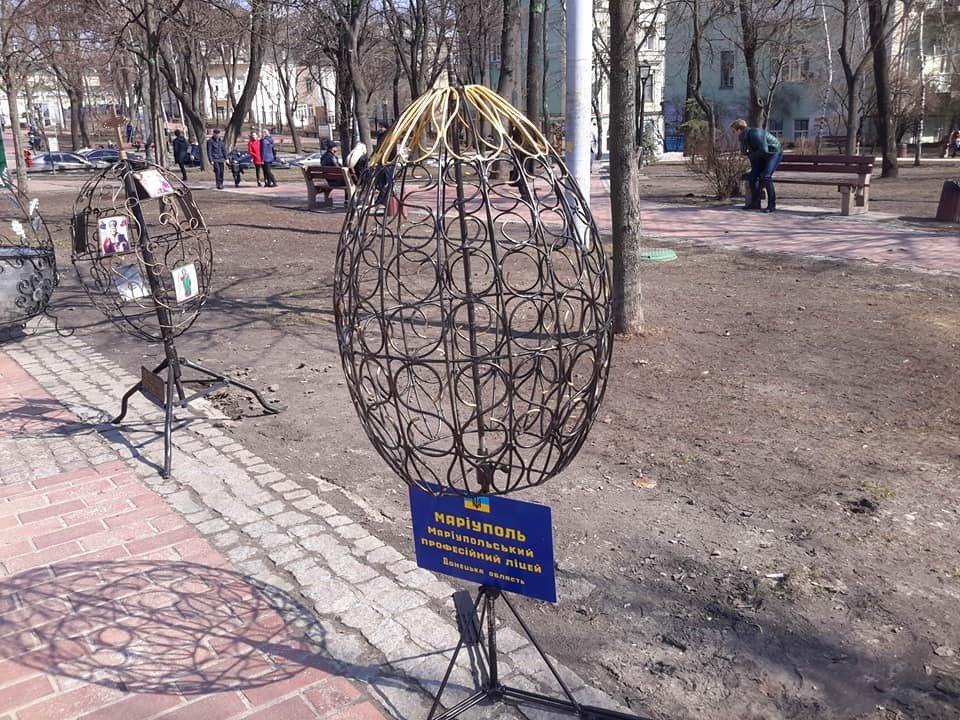 Студенти Донецької області створили метрові металеві писанки, фото-7