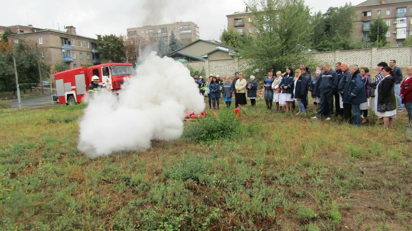 Рятувальники Костянтинівки провели навчання на кондитерській фабриці, фото-2