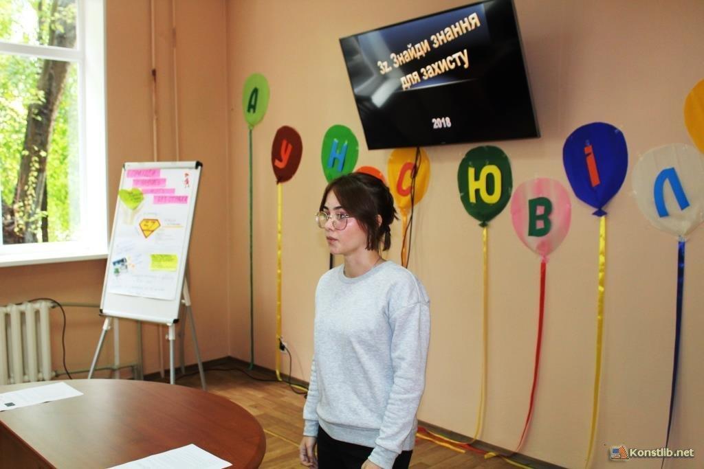 Дев'ятикласниця із Костянтинівки презентувала проект «Школа волонтерів», фото-1