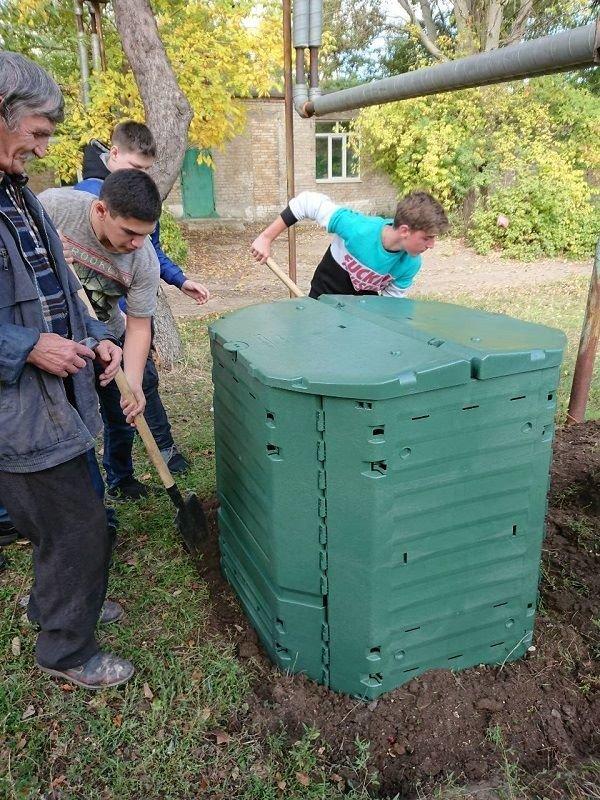 На шкільний ділянці Костянтинівського ліцею встановили компостер, фото-4