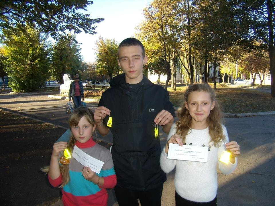 """""""Лігівці"""" Костянтинівки дбають про безпеку дітей на дорозі, фото-3"""