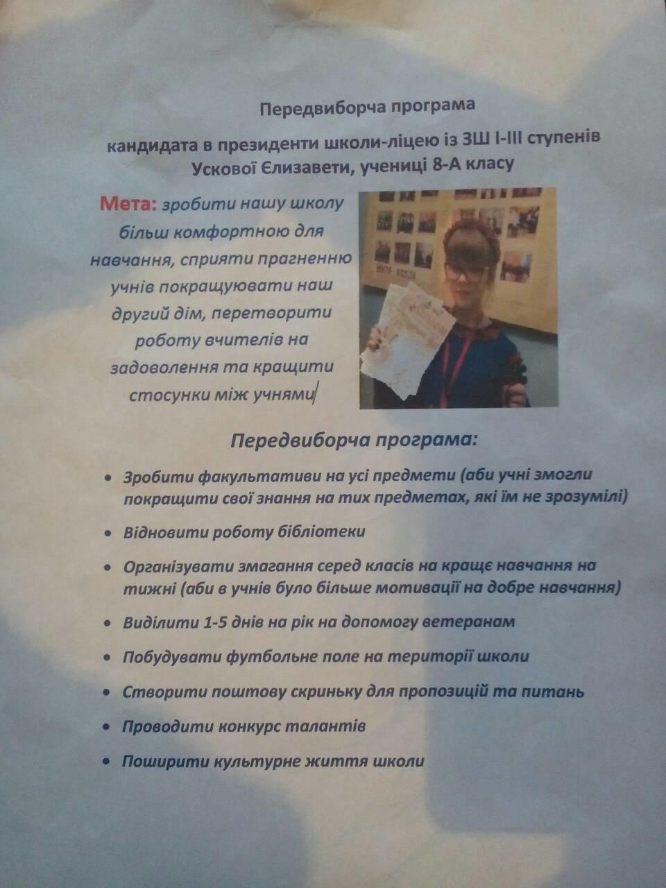 В одній із шкіл Костянтинівки обрали президента, фото-4