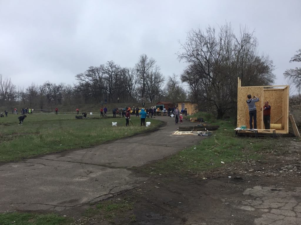 Активисты Константиновки начали восстанавливать стадион, фото-4