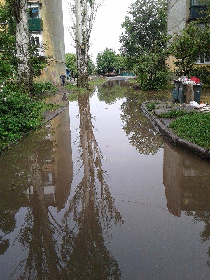 Затопленные тротуары Константиновки (фотофакт), фото-6