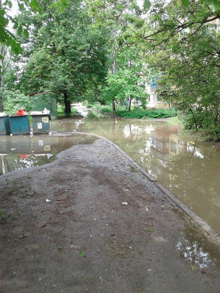 Затопленные тротуары Константиновки (фотофакт), фото-5