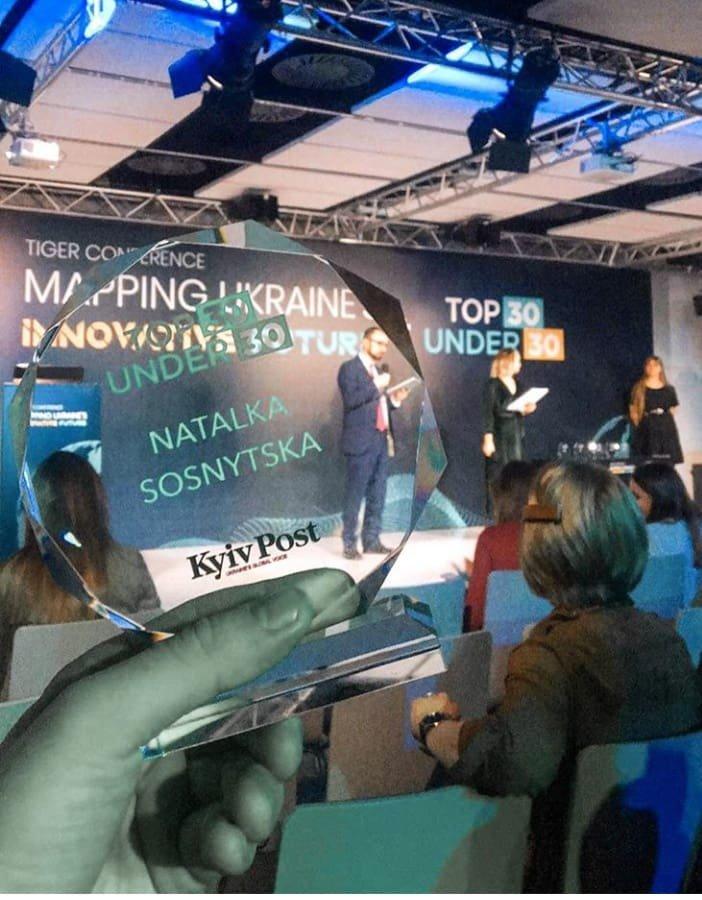 Наталка Сосницька із Костянтинівки отримала премію «Top 30 Under 30», фото-1