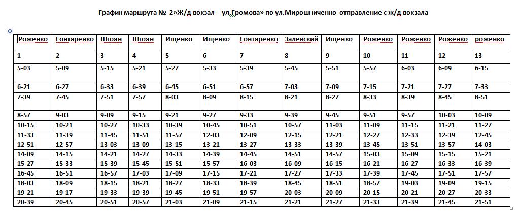 Графік руху автобусів в Костянтинівці на 2020 рік, фото-3