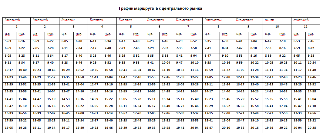 Графік руху автобусів в Костянтинівці на 2020 рік, фото-4