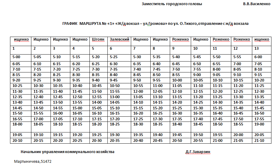 Графік руху автобусів в Костянтинівці на 2020 рік, фото-2