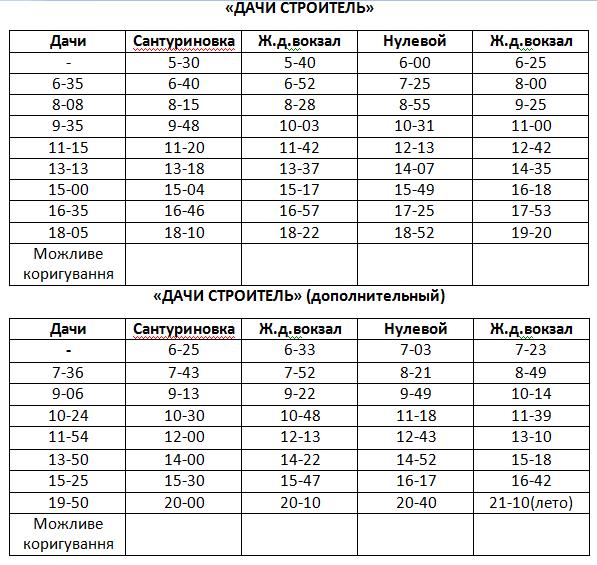 Графік руху автобусів в Костянтинівці на 2020 рік, фото-15