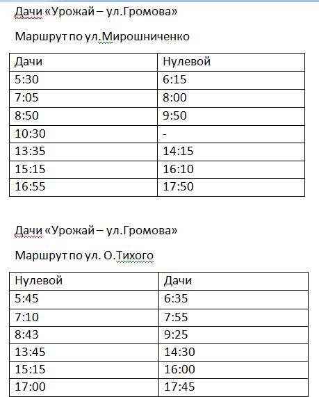 Графік руху автобусів в Костянтинівці на 2020 рік, фото-16