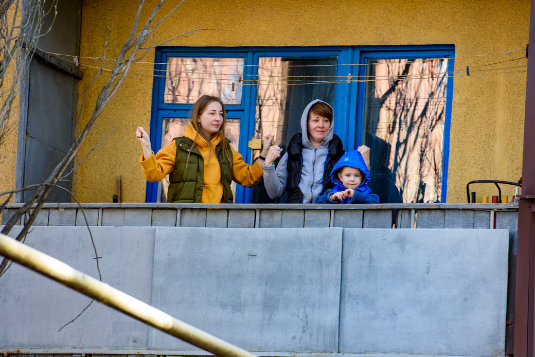 «Донбасс» провел утреннюю зарядку для жителей Константиновки , фото-2